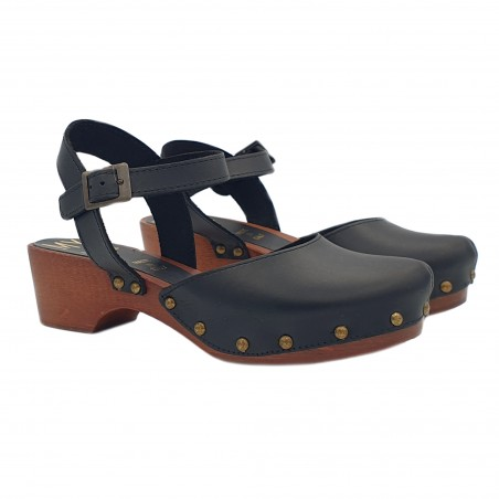 WOMEN'S LEATHER SANDALS 5 CM HEEL MADE IN ITALY