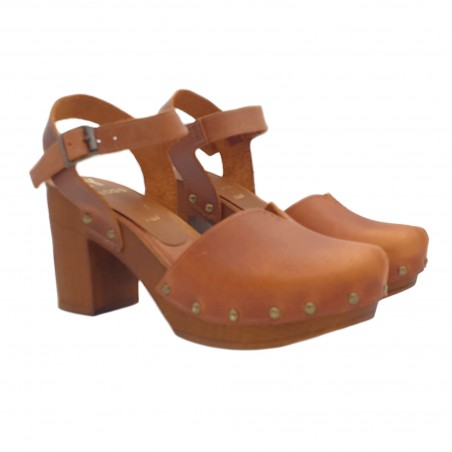 DUTCH STYLE SANDALS IN LEATHER MADE IN ITALY